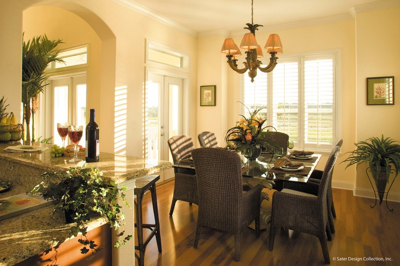 Mediterranean Interior - Dining Room Plan #930-16 - Houseplans.com