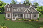 Country Style House Plan - 5 Beds 5 Baths 2698 Sq/Ft Plan #56-543 Exterior - Front Elevation