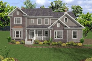 Country Exterior - Front Elevation Plan #56-543