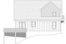 Cabin Exterior - Rear Elevation Plan #932-250