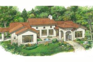 House Design - Adobe / Southwestern Exterior - Front Elevation Plan #140-191