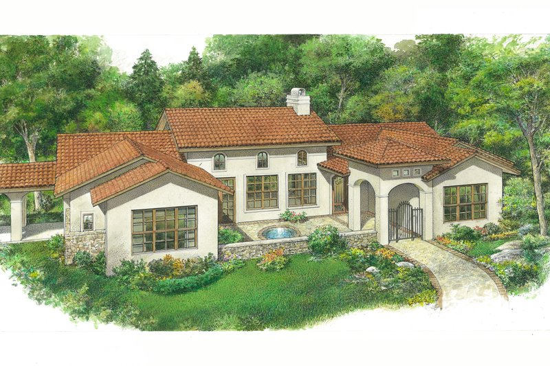 Dream House Plan - Adobe / Southwestern Exterior - Front Elevation Plan #140-191