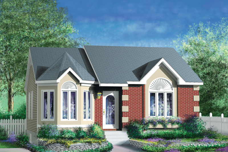 Cottage Style House Plan - 2 Beds 1 Baths 967 Sq/Ft Plan #25-151 Exterior - Front Elevation