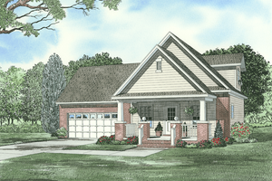 Farmhouse Exterior - Front Elevation Plan #17-2294