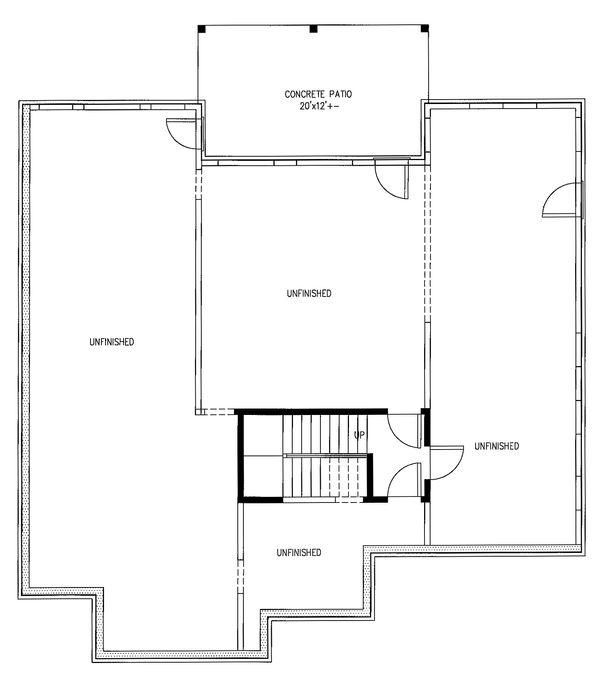 Ranch Floor Plan - Lower Floor Plan Plan #437-82