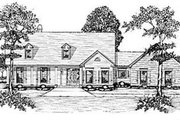 Country Style House Plan - 3 Beds 3.5 Baths 3175 Sq/Ft Plan #36-230 Exterior - Front Elevation