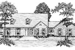 Country Exterior - Front Elevation Plan #36-230