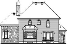 Dream House Plan - European Exterior - Rear Elevation Plan #23-806