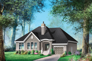 European Style House Plan - 2 Beds 2 Baths 1856 Sq/Ft Plan #25-4617 Exterior - Front Elevation