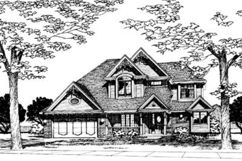 Traditional Exterior - Front Elevation Plan #20-772 - Houseplans.com