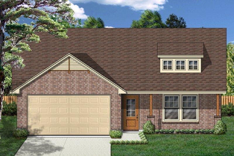 Cottage Exterior - Front Elevation Plan #84-518