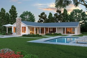 Ranch style house plans with pool