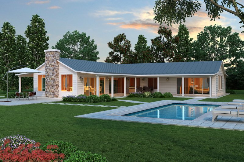 Dream House Plan - modern farmhouse plan