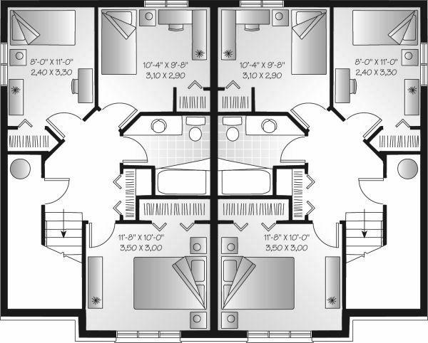 Colonial Floor Plan - Lower Floor Plan Plan #23-679