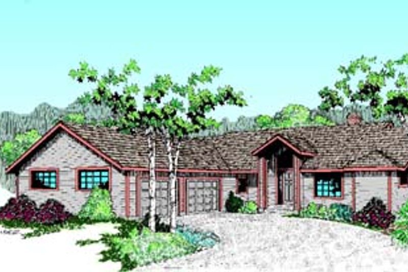 Traditional Exterior - Front Elevation Plan #60-520 - Houseplans.com