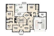 Ranch Style House Plan - 4 Beds 2.5 Baths 1997 Sq/Ft Plan #36-167 Floor Plan - Main Floor Plan