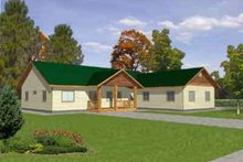 Architectural House Design - Traditional Exterior - Front Elevation Plan #117-299