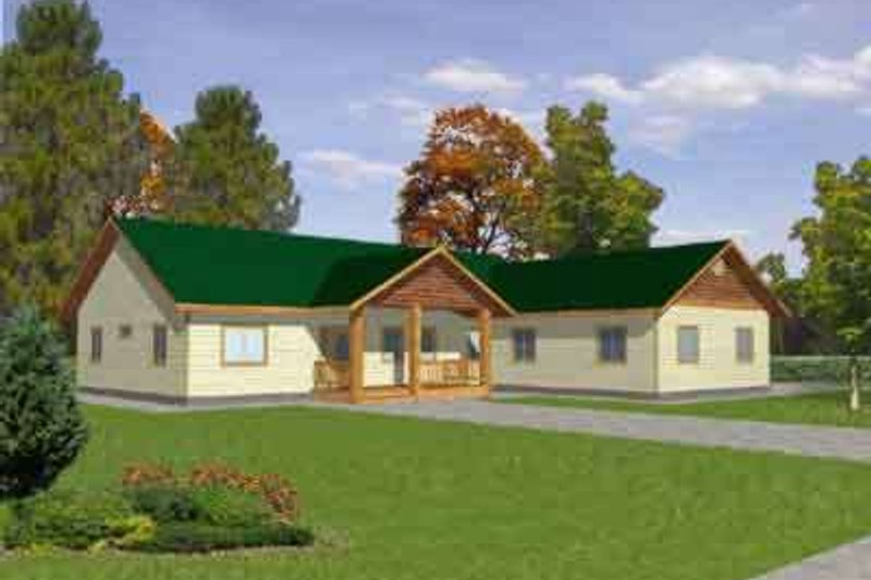 Home Plan - Traditional Exterior - Front Elevation Plan #117-299
