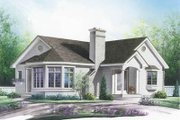 Traditional Style House Plan - 3 Beds 1 Baths 1347 Sq/Ft Plan #23-189 Exterior - Front Elevation
