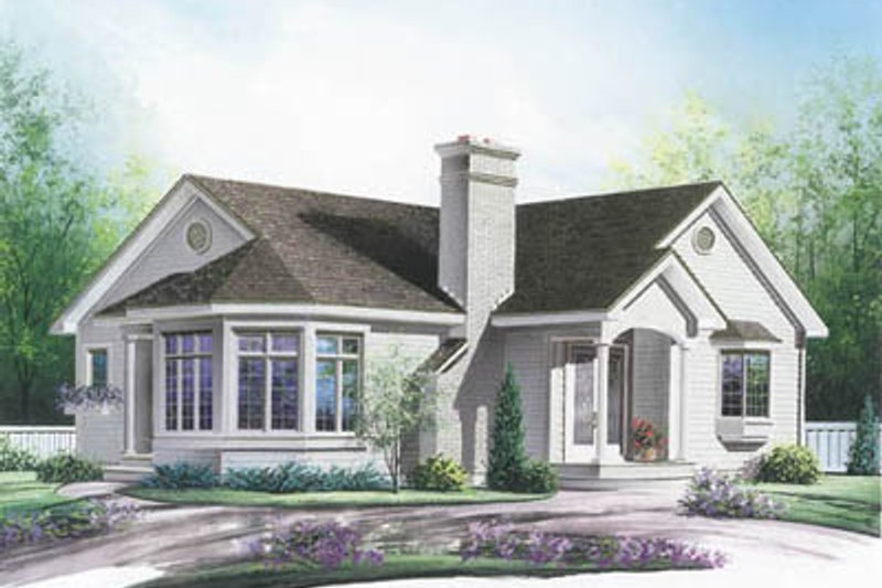 Home Plan Design - Traditional Exterior - Front Elevation Plan #23-189