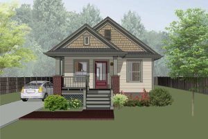 Craftsman Exterior - Front Elevation Plan #79-101