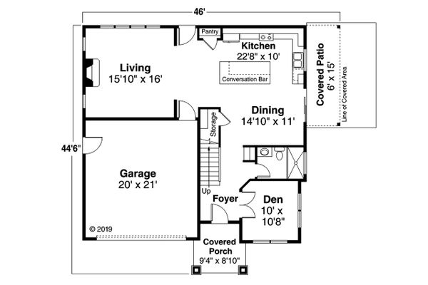 House Plan Design - Craftsman Floor Plan - Main Floor Plan #124-1205