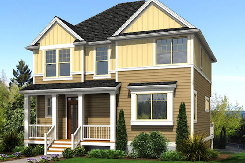 Traditional Exterior - Front Elevation Plan #48-512