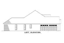 House Plan Design - European style home design, left elevation