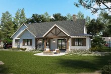 House Design - Farmhouse Exterior - Rear Elevation Plan #928-356