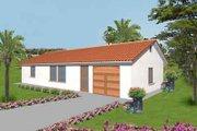 Mediterranean Style House Plan - 2 Beds 2 Baths 1000 Sq/Ft Plan #1-139