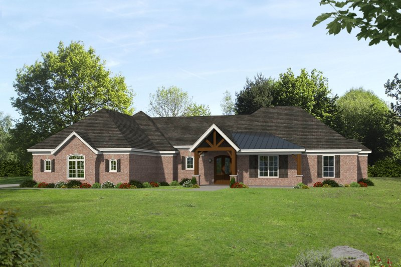 Dream House Plan - Country Exterior - Front Elevation Plan #932-294
