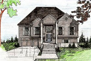 Traditional Exterior - Front Elevation Plan #405-189