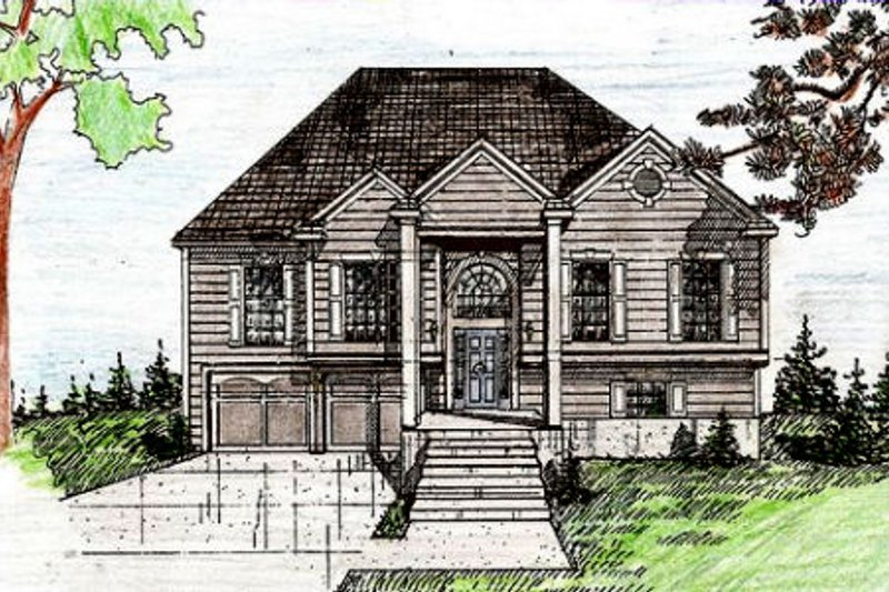Architectural House Design - Traditional Exterior - Front Elevation Plan #405-189