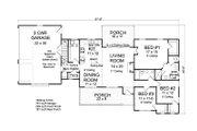 Ranch Style House Plan - 3 Beds 2 Baths 1639 Sq/Ft Plan #513-2188 Floor Plan - Main Floor Plan
