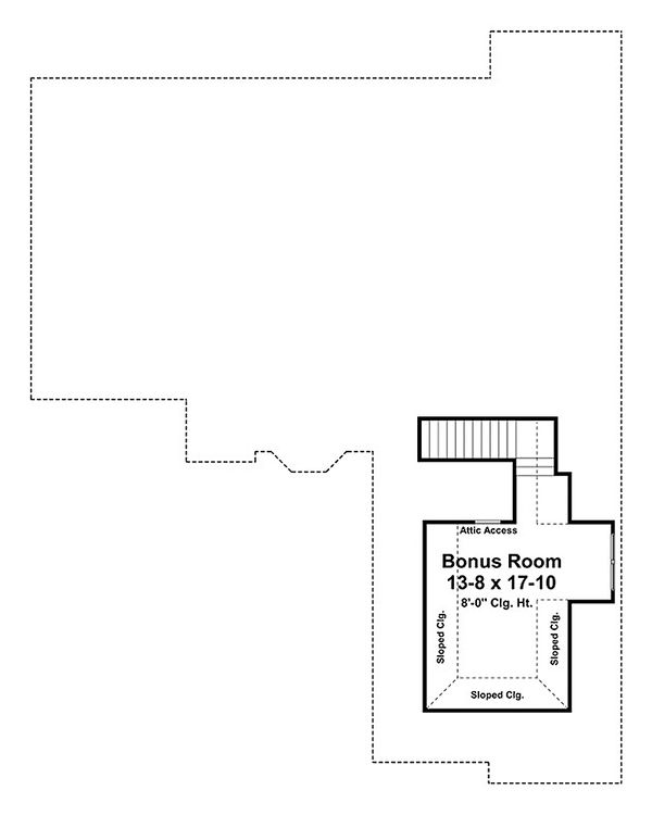 European Floor Plan - Upper Floor Plan Plan #21-239