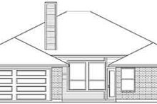 Architectural House Design - Colonial Exterior - Rear Elevation Plan #84-213