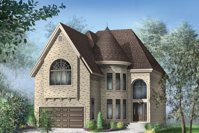 European Style House Plan - 4 Beds 2 Baths 2922 Sq/Ft Plan #25-4477 Exterior - Front Elevation