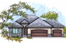 Dream House Plan - European Exterior - Front Elevation Plan #70-987