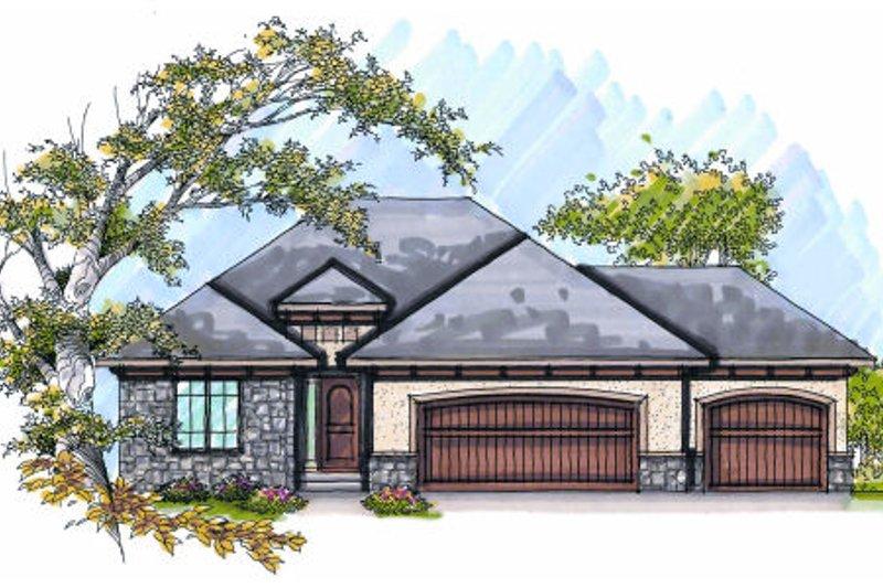Dream House Plan - European Exterior - Front Elevation Plan #70-987