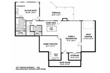 Southern Floor Plan - Lower Floor Plan Plan #56-589
