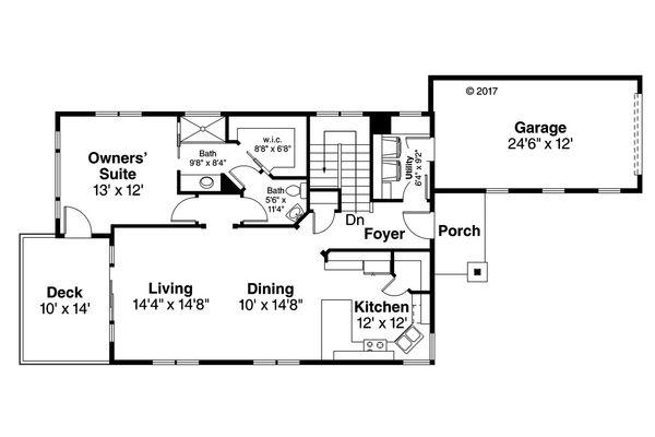 Traditional Floor Plan - Main Floor Plan Plan #124-1046