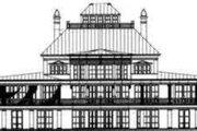 European Style House Plan - 4 Beds 5.5 Baths 8397 Sq/Ft Plan #119-184 Exterior - Rear Elevation
