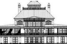 House Plan Design - European Exterior - Rear Elevation Plan #119-184