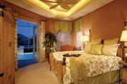 Mediterranean Style House Plan - 4 Beds 3 Baths 2908 Sq/Ft Plan #930-14 Interior - Master Bedroom
