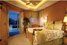 Mediterranean Interior - Master Bedroom Plan #930-14