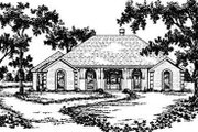 European Style House Plan - 3 Beds 2 Baths 2374 Sq/Ft Plan #36-205 Exterior - Front Elevation