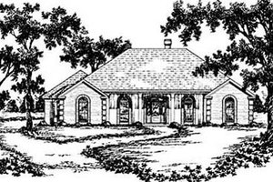 European Exterior - Front Elevation Plan #36-205