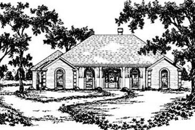 European Exterior - Front Elevation Plan #36-205 - Houseplans.com