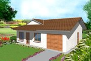 Ranch Style House Plan - 3 Beds 2 Baths 973 Sq/Ft Plan #1-137 Exterior - Front Elevation