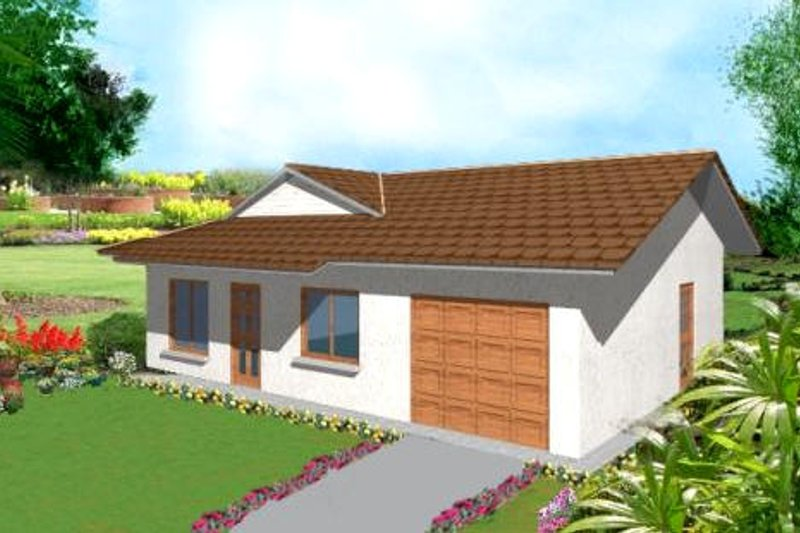Ranch Style House Plan - 3 Beds 2 Baths 973 Sq/Ft Plan #1-137